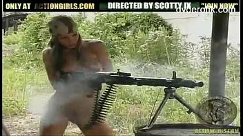 amateur nude with guns